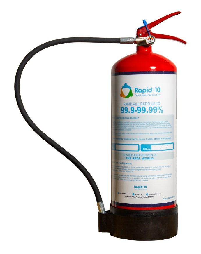 Rapid 10 portable sanitising solution